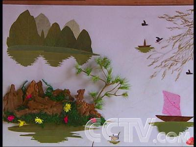 植物树叶种子粘贴画;