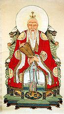 Laozi, depicted as a Taoist god.