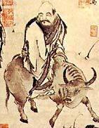 According to legends, Laozi leaves China on his water buffalo.