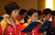 "China´s table tennis team say ""No"" to doping"