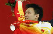 China´s Zhang Lin wins silver medal of men´s 400m free style