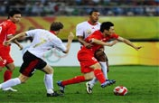 Belgium beat nine-man China 2-0 at Olympic soccer match