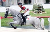 Chinese rider Hua Tian eliminated after falling from horse