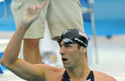Unstoppable Phelps grabs third gold with third world record