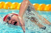 Federica Pellegrini of Italy wins Women´s 200m freestyle gold with a new world record at Olympic Games