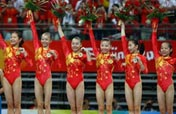 Chinese women gymnasts claim first Olympic team crown