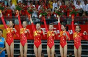 Chinese gold medalists on Day 5 of Beijing Olympics