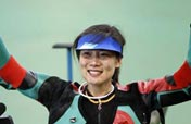 Du Li of China wins women´s rifle 3 positions gold medal at Olympic Games