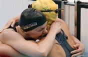 Britta Steffen of Germany wins women´s 100m freestyle gold