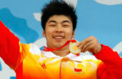 Lu Yong of China wins Men´s 85kg Weightlifting gold