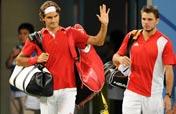 Federer participates in men´s doubles gold medal match