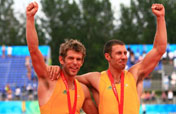 Astralia leads all way to win Olympic men´s double sculls gold