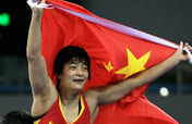 China´s Wang Jiao wins gold medal of women´s 72kg freestyle wrestling