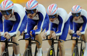 Britain breaks cycling men´s team pursuit world record