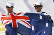Australia wins sailing men´s two person Dinghy