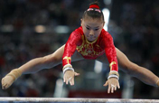 Chinese gymnast He Kexin wins uneven bars gold
