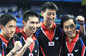 ROK blasts Austria to claim Team Table Tennis bronze
