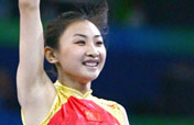 He Wenna wins first Olympic trampoline gold for host China