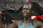Kenyan Jelimo wins women´s 800m