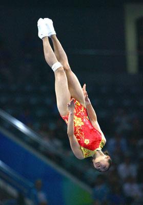 HeWennacompetes.(Photocredit:Xinhua)
