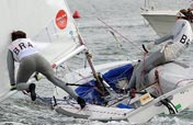 Thrilling celebrations for sailing victory