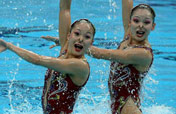 Marvellous synchronised swimming