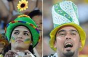 Beach volleyball: frantic Brasilian fans