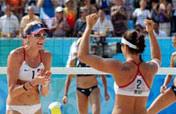 U.S. beats Brazil in beach volleyball semifinal