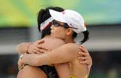 China´s Tian/Wang in women´s beach volleyball final