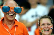 Dutch football fan with super-glasses