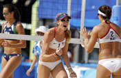 US, Chinese top beach volleyball pairs to play final