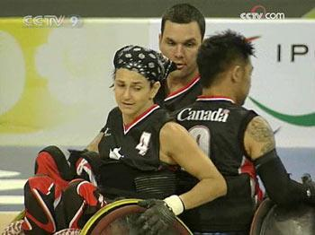 Erika Schmutz is only the third female to be named to the Canadian national wheelchair rugby team. She is also currently the only female playing at a national level worldwide.