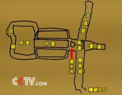 1号墓室内结构图