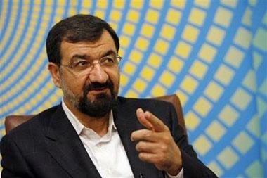 Iranian presidential hopeful Mohsen Rezaei talks during an exclusive interview with The Associated Press in Tehran on Tuesday May 26, 2009. (AP photo/Hasan Sarbakhshian)