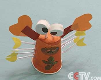 螃蟹纸杯手工制作大全图解 步骤