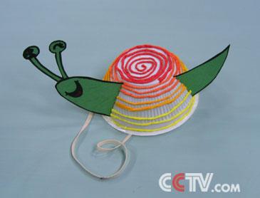 幼儿手工蜗牛制作方法
