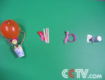 纸杯热气球手工制作