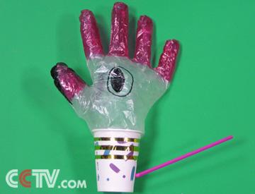 手套变成小动物的步骤