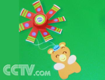 幼儿园卡纸制作降落伞