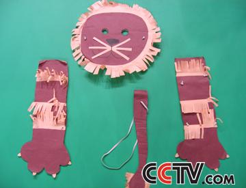 狮子面具手工制作步骤