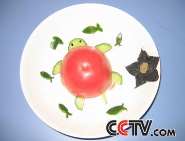红果果,绿泡泡将和你们一起用积木拼图摆出自己知道的蔬菜,并将在