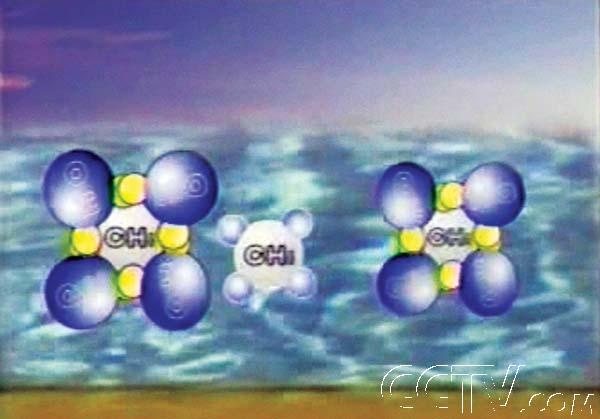 冰分子结构图