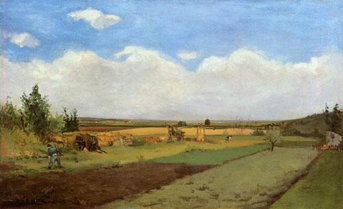 毕加索风景油画高清大图