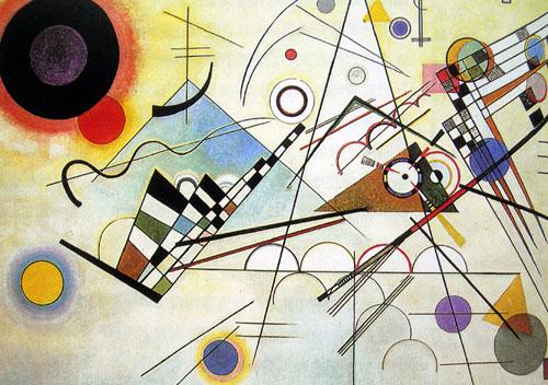 康定斯基,康定斯基抽象画作品,康定斯基作品赏析