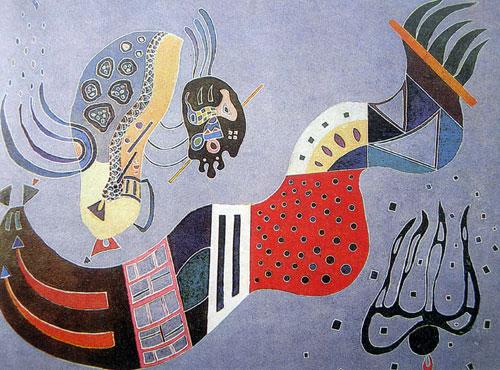 康定斯基抽象画作品