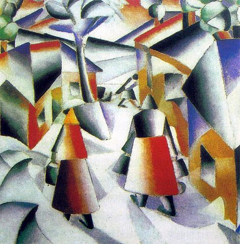几何抽象画作品