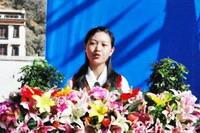 青少年代表郎杰拉姆同学在大会上的发言