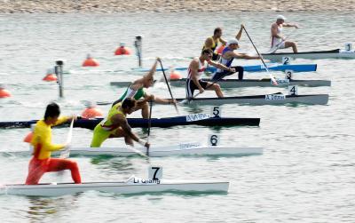 """(6)皮划艇:""""好运中国""""皮划艇静水北京公开赛开赛亚运会电子竞技中国队视频图片"""