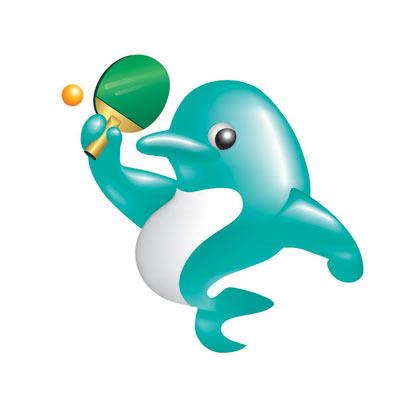 """吉祥物选用受世人喜爱的海洋动物""""海豚"""",体现出海滨城市上海的特征."""