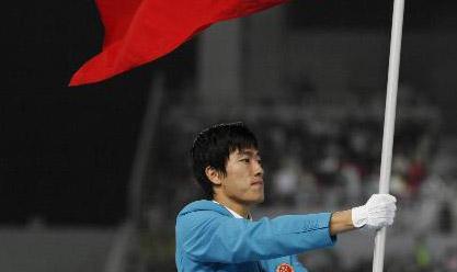 刘翔不愿当2008年奥运会中国代表团旗手图片
